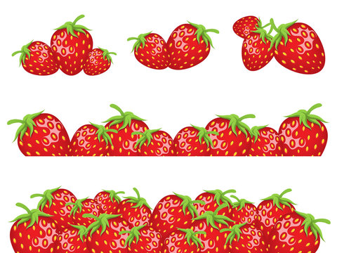 Strawberry borders for your design