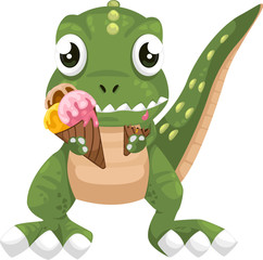 illustration cartoon dinosaur vector