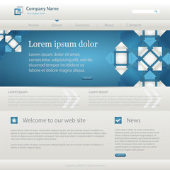 Blue website creative template, vector illustrations. eps10