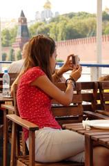 Teenage girl tourist