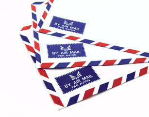 Air mail envelope.
