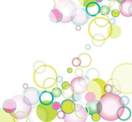 Sfondo con bolle colorate