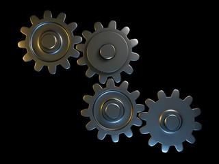 Connected metal gears