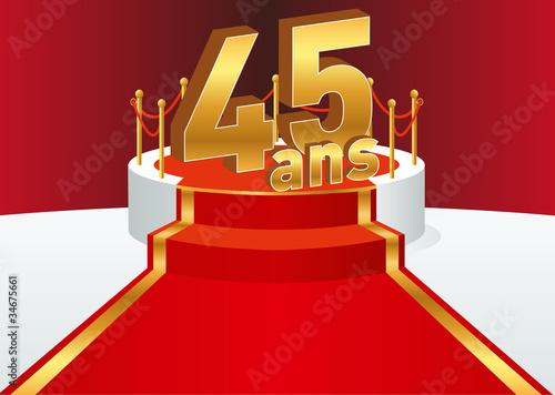 podium 45ans fichier vectoriel libre de droits sur la. Black Bedroom Furniture Sets. Home Design Ideas