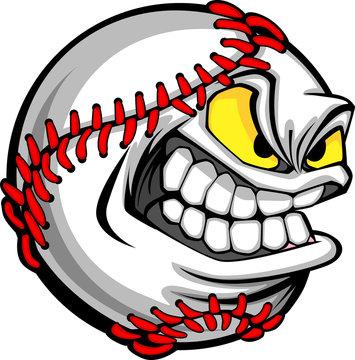 Baseball Face Cartoon Ball Image