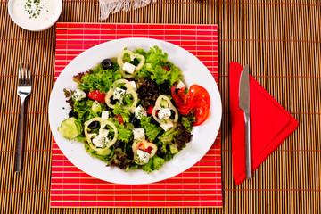 salad egg, olives