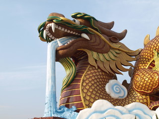 Big dragon at Suphanburi Thailand