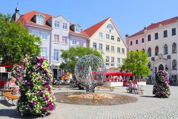 Fotomurales - Waren Müritz Rathausplatz