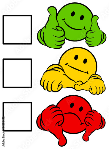 """Smiley 2 Thumbs Green/Yellow/Red To Tick A Box ... F(x) Amber Red Light"