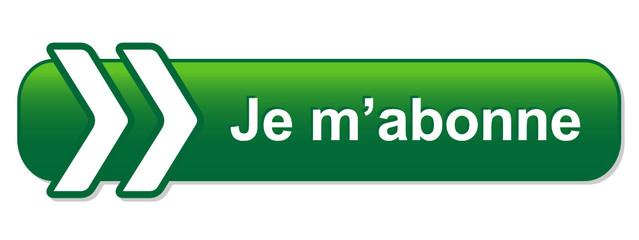 """Bouton Web """"JE M'ABONNE"""" (s'abonner inscription abonnement vert)"""
