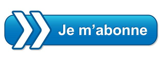 """Bouton Web """"JE M'ABONNE"""" (s'abonner inscription abonnement ok)"""