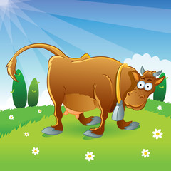 Cow Illustration Cartoon