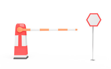 barrier and traffic sign