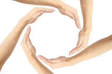circle hand concept