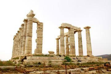 Temple of Poseidon at Cape Sounion near Athens, Greece