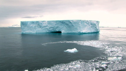 Wall Mural - iceberg and brash ice in antarctica