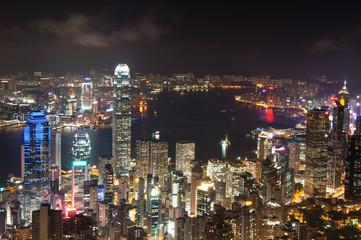 Night View of Hong Kong .