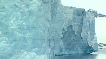 Wall Mural - close up of tabular iceberg in antarctica