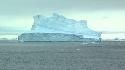 Wall Mural - lonely distant iceberg in antarctica