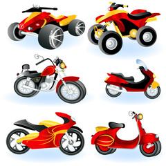 Keuken foto achterwand Motorfiets Motorcycle icons 2