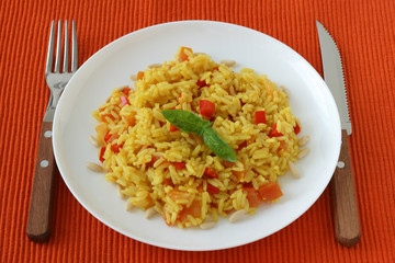 Rice with pepper