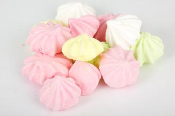 Isolated marshmallow cakes