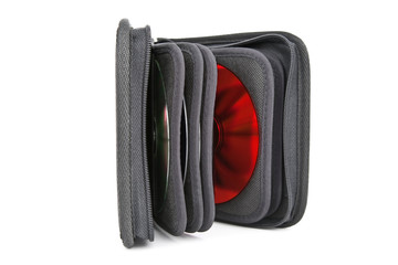 an opened cd case