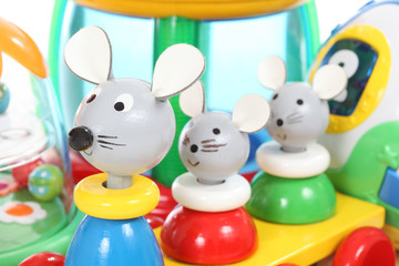 Colorful mouse toy