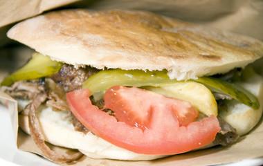 pita gyro meat sandwich Istanbul Turkey