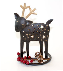 Cheerful Holiday Reindeer Decoration