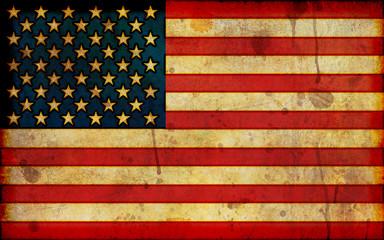 Grunge American Flag Illustration