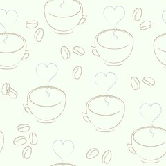 Seamless cup pattern