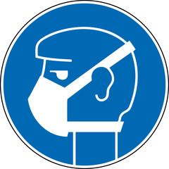 Gebotszeichen Mundschutz tragen benutzen Schild Symbol