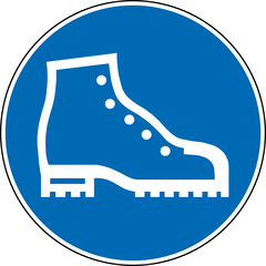 Gebotszeichen Sicherheitsschuhe Fußschutz Zeichen