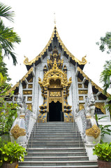 Molded lime of Thai temple.