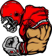 Football Player Lineman Cartoon