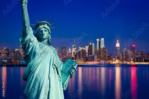 Fototapete New York Manhattan statue de la Liberté