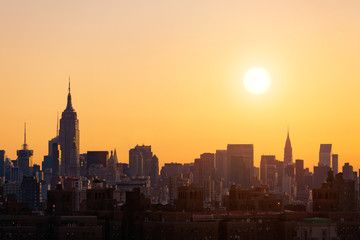 Fototapete - New York sunset