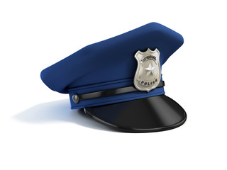 police hat 3d illustration