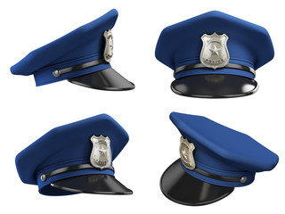 policeman hat from various angles 3d illustration
