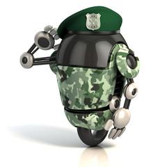 Spoed Foto op Canvas Robots robot soldier 3d illustration