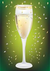 celebration champagne glass