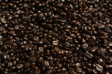 Brown Background with coffee bean