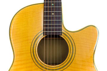 Acoustic Cutaway Guitar/Isolated