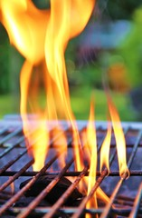 Flamme am Grill