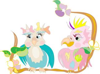 Poster Oiseaux, Abeilles Birds