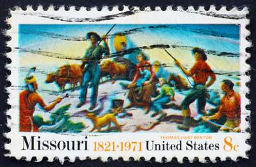 Postage stamp USA 1971 Missouri sesquicentennial issue