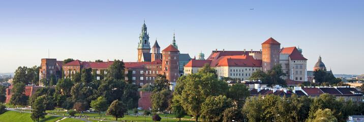 Autocollant pour porte Cracovie Wawel Castle Panorama
