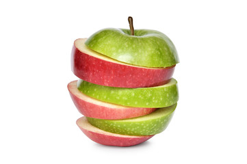 Wall Mural - Red and green apple