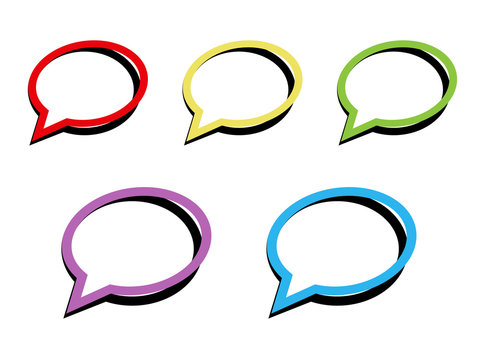 Vector illustration of isolated colorful call out